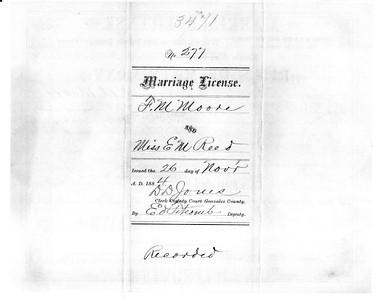 1884 ML - F M  Moore and E M  Reid ML227 Nov 26, 1884 a