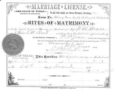 1884 ML - F M  Moore and E M  Reid ML227 Nov 26, 1884 b