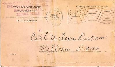1918 - 4-8 Carl Duncan's War Dept  Health notice 01