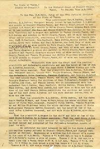 1891 - Dodson land lawsuit 1