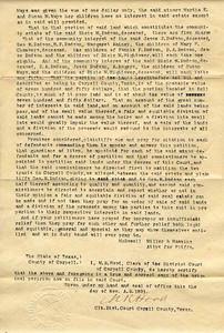 1891 - Dodson land lawsuit 3