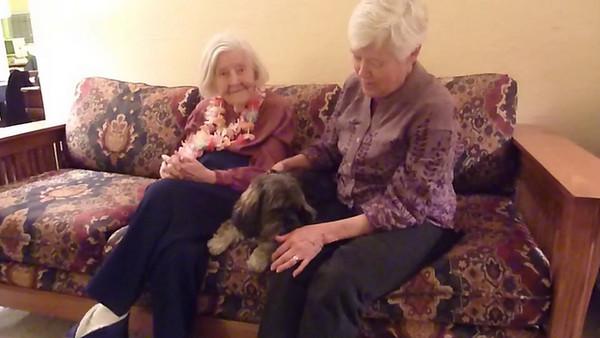 Grandma, Kuma (dog) Kris