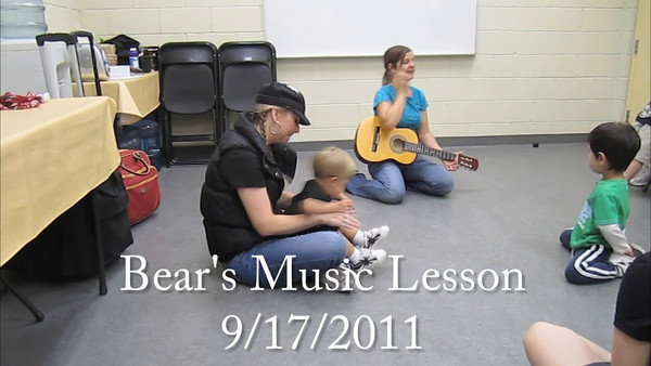 Bear's Music Lesson 9-17-20011
