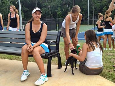 Anna's first varsity match