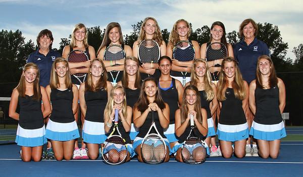 Anna's 2012 Varsity Tennis Team photo