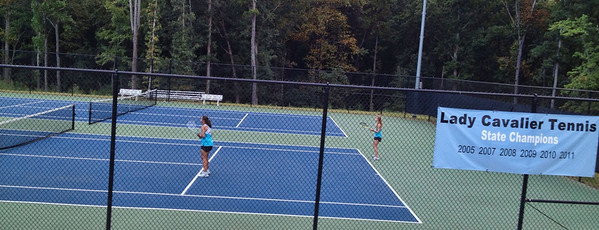 Anna and Siton in Doubles Match