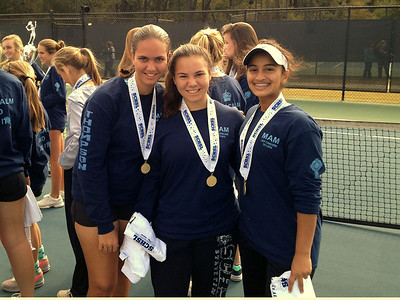 Anna, Elkie, and Nila at state championship