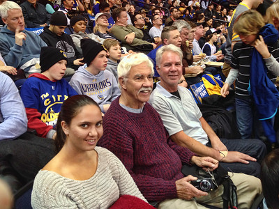 Anna, Bob and Loel at the Warriors game