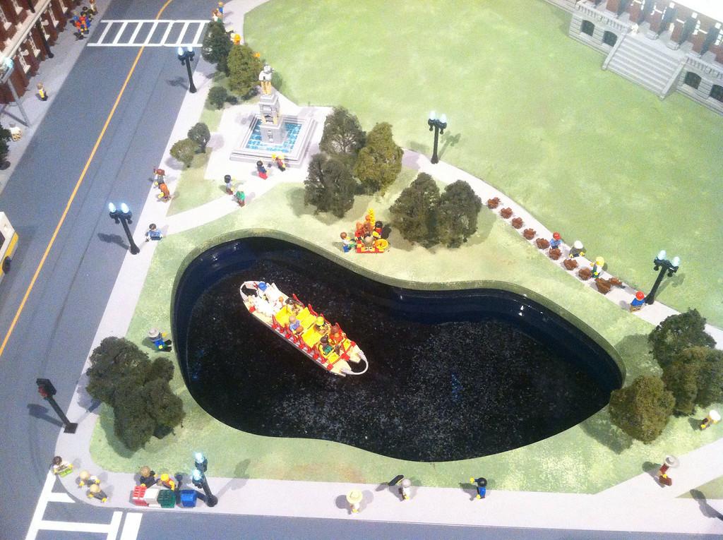 Boston Common and Swan Boats, Legoland Boston