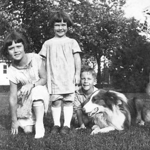Jane, Pat, and Vincent with Tommy.