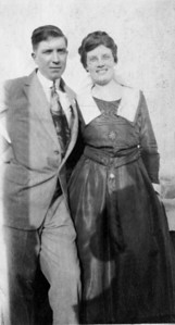 "Vincent and Loretta (""Aunt Loretta"") Finan, ~1910-1915(?).  Loretta, who never married, was a fixture at many family gatherings.  She was a nurse who worked well into her senior years."
