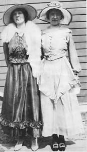 Anna Finan (r) and friend