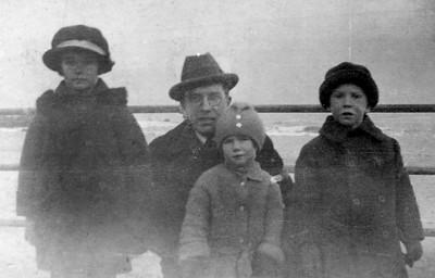 Jane, Pat, and Vincent (Sonny) Finan with Vincent Sr., Asbury Park, mid-1920s