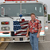 Stan with an Anne Arundel County fire truck on 9-11-11.