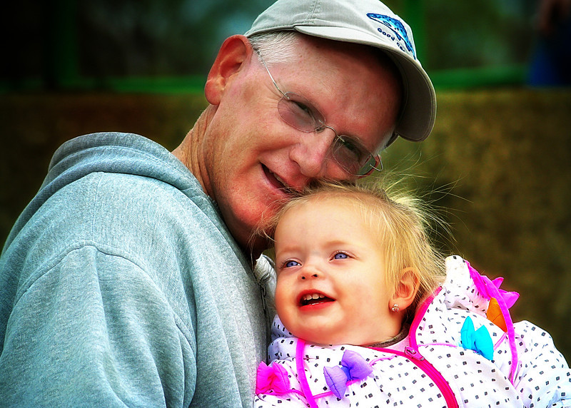 """May 15, 2011<br /> """"Papa & Peanut""""- Thanks for all of the encouraging comments on our portrait yesterday! Have a wonderful Sunday!"""
