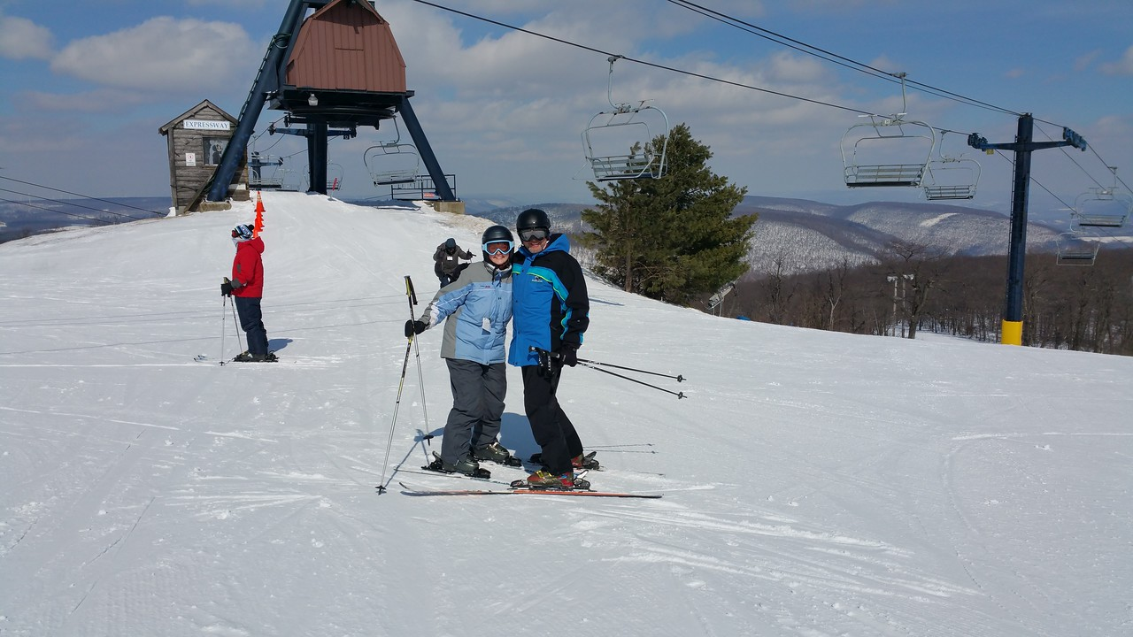Ski conditions were great ... I made several runs while while Ashlee went to school.