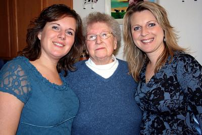 Lorinda, Grandma Peak, & Melissa. Christmas 2009