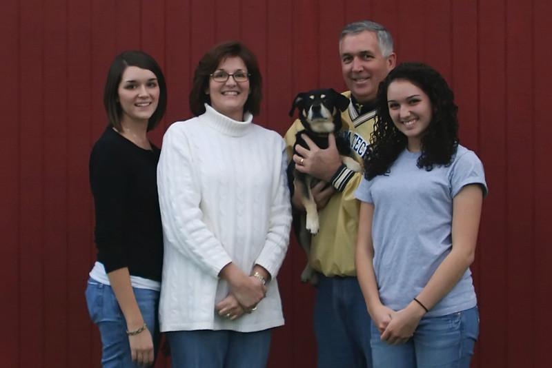 Family, Lisa, Blake, Emilee, Kaylee, Rocky