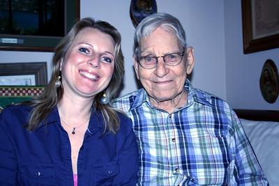 Melissa & Grandpa Semanko. Dec 2009