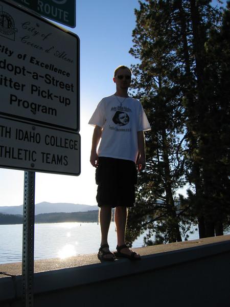 Pat at Lake Coeur d' Alene
