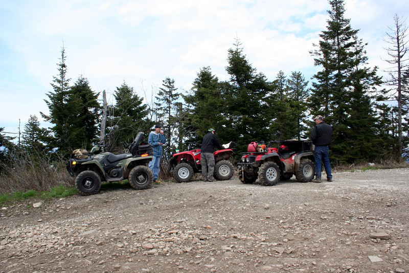Chris & Dad was on the ATV ride with us. There was over 5 ft of snow on the back side of the Mt. So we  went to the towers at the top of Canfield. May 2011