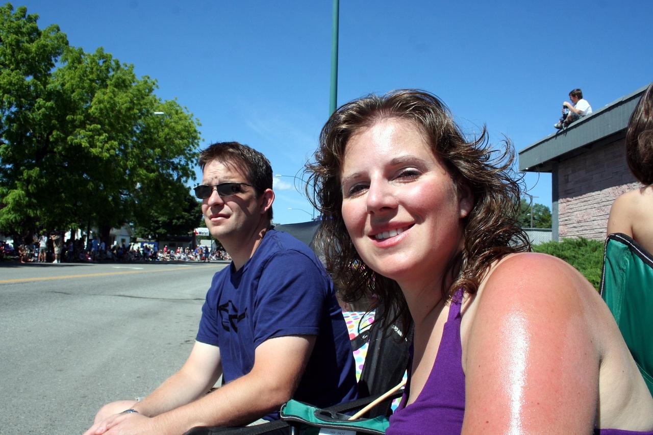 Chris & Lorinda enjoying the sun at the 4th of July parade