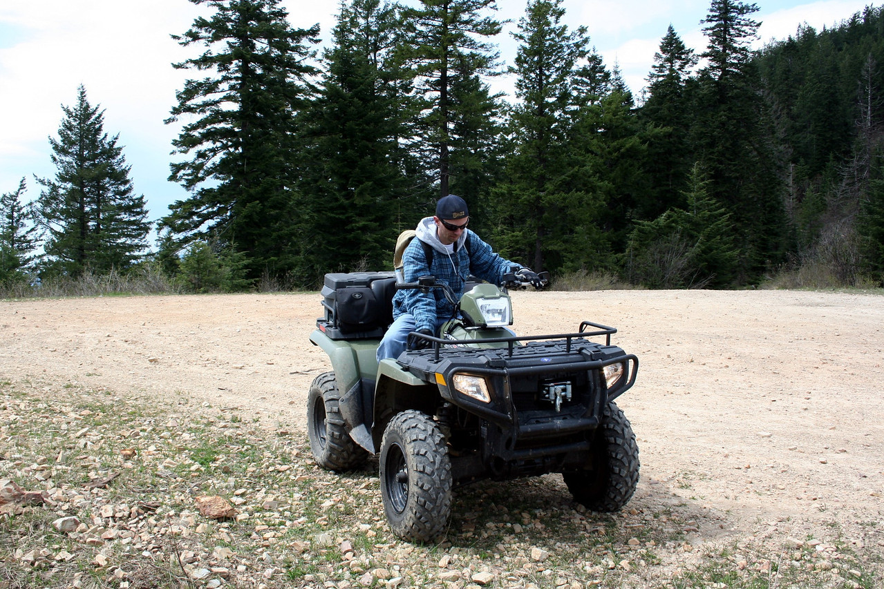 Patrick on the ATV. May 2011