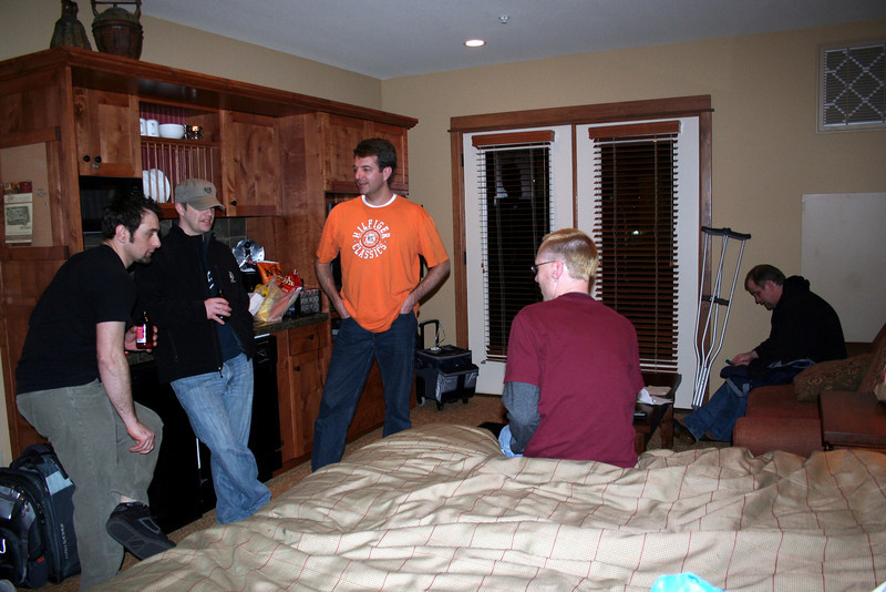 For Chris's Birthday they rented a condo for a guys night out.  Casey, Tom, Patrick & James spent the night playing poker. March 2011