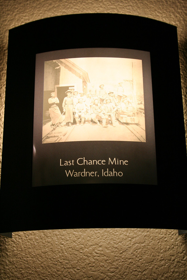 It was really neat. Outside each condo there were old mine pictures.