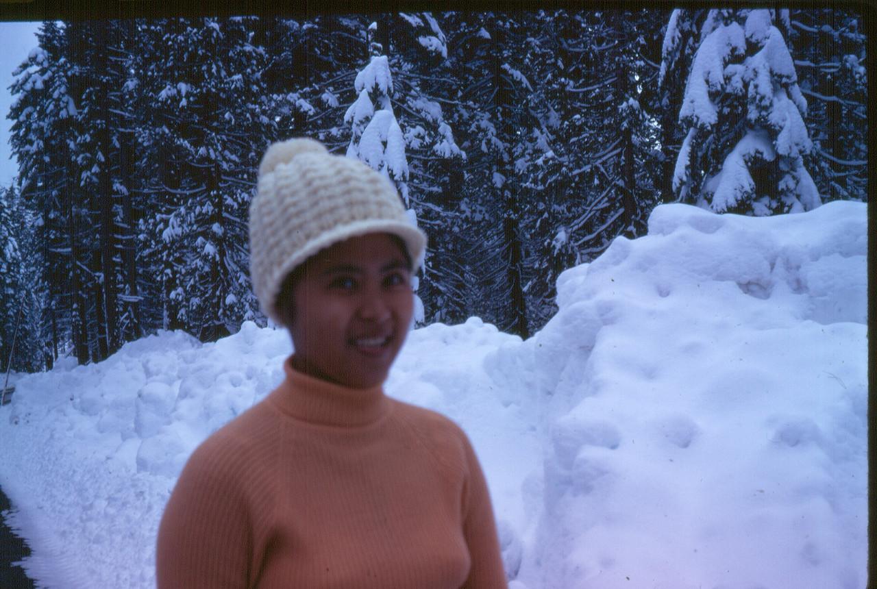 Mom, December 1973.