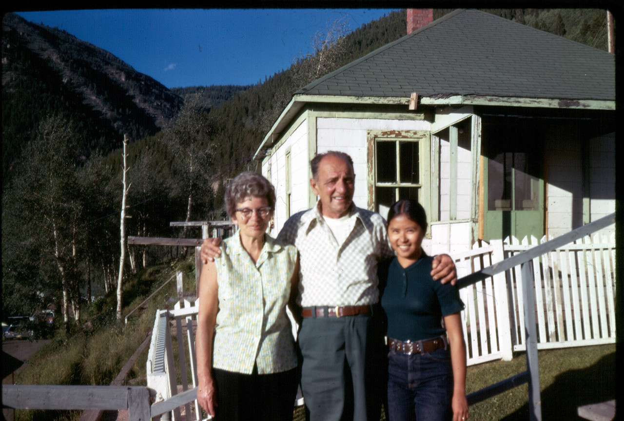 Grandma, Grandpa, and Mom. Mom is 24 years old here.