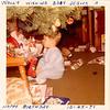 Mom's commentary: Wally wishing Baby Jesus a happy birthday, 12/25/1971