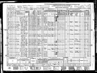 1940 census Mable Sutherland Graver LA CA