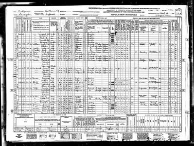 1940 census Mable Sutherland Graver LA CA