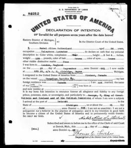 1928 dec Mabel Sutherland Detriot MI