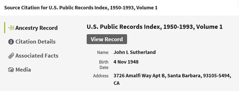residence John L Sutherland CA