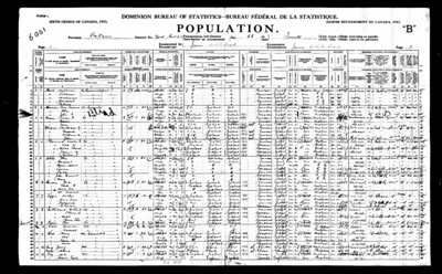 1921 census Flroance Sutherland York Toronto CAN