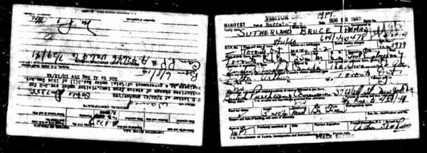 1940 baorder Bruce Sutherland Detriot MI