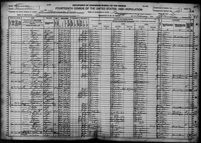 1920 census Smith family in Onesco FL