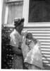 Lillian Larson holding Duane Larson in 1948