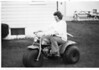 Sallie Roddel on motorcycle