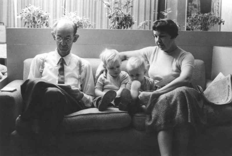 Jim and Lois with Uncle Bob and Aunt Alice