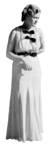 Velma in White House Dress 1935