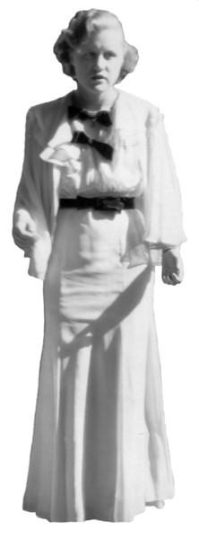 Velma and White House Dress 1935