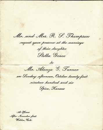 Turner-Thompson Wedding Invitation