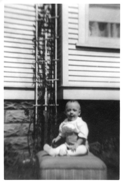 LeRoy Griffin, oldest child of Earl and Fern Griffin, at 6 months old.