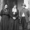 Nora (Harclerode) Thompson, Stella (Thompson) Turner, and Robert Thompson. Stella was the daughter of Nora and Robert. Date unknown but probably in the later 1920s.