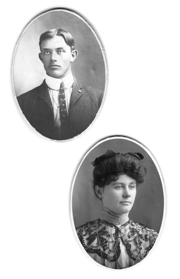Alonzo and Stella (Thompson) Turner. These pictures were included in a wedding keepsake book of theirs.