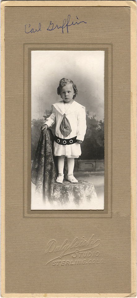 Earl Griffin, son of Charles and May (Thompson) Griffin. Earl was born in 1912 so this picture was probably taken about 1913 or 14.