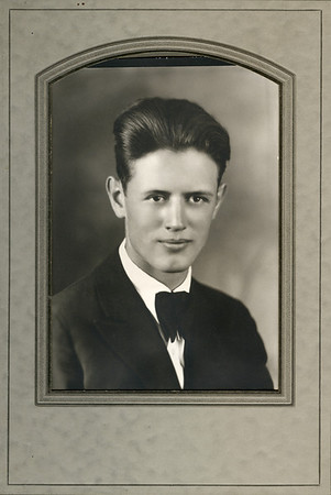 Glen Turner about 1927. Taken with portraits of the rest of his family including Stella & Alonzo Turner.